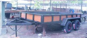 Karoseri Mini Trailer, Gerobak, Tipping,